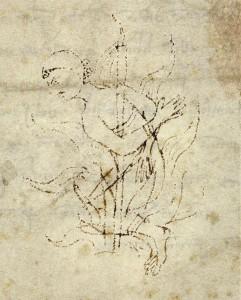 Manuscrit du 13° siècle représentant un Cathare mourant dans un bûcher (crédits : Wikimédia Commons)