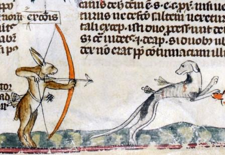 'The Smithfield Decretals' (Decretals of Gregory IX with glossa ordinaria), Tolouse ca. 1300 (crédits : http://discardingimages.tumblr.com/)