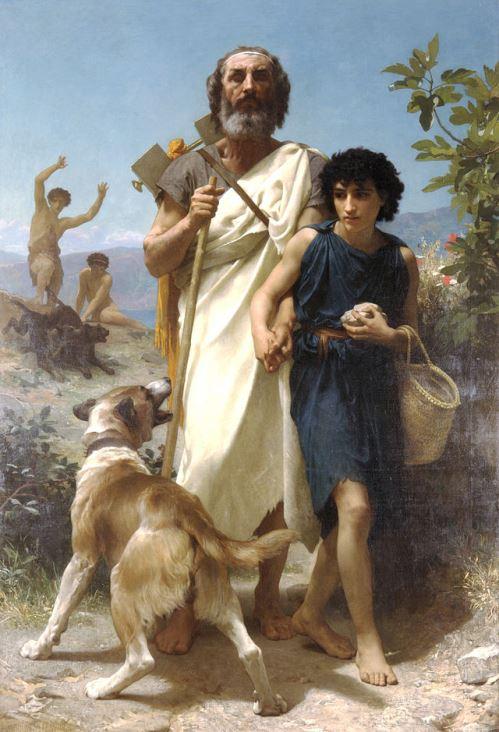 Homère et son guide, par William Bouguereau (1874) (crédits : Wikipedia)