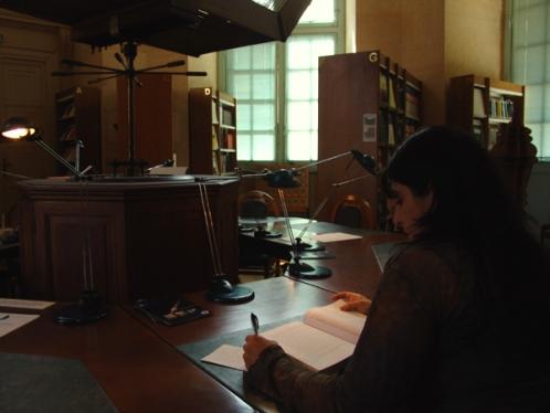 L'ambiance feutrée de la Bibliothèque de l'Observatoire de Paris (crédits : PSL)