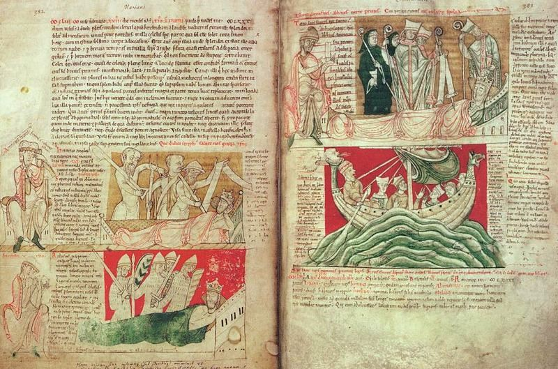 Labatores, bellatores, oratores. John von Worcester,  Chronicle of England, 1140 (via commons.wikimedia.org)