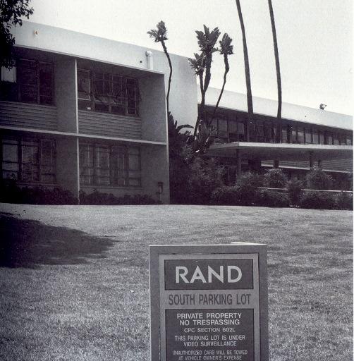 La rationalité assignée à résidence californienne. Rand Corporation, 1950, Santa Monica (crédits : rand.org)