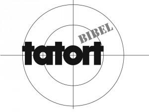 Tatort Bibel (Tatort-Logo: Urheber unbekannt [Public Domain], via Wikimedia Commons, bearbeitet von M. Hölscher)