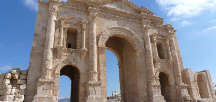 Der Hadriansbogen im Süden der Stadt Jerash/Gerasa in Jordanien, 2014. Fotograf: M. Hölscher