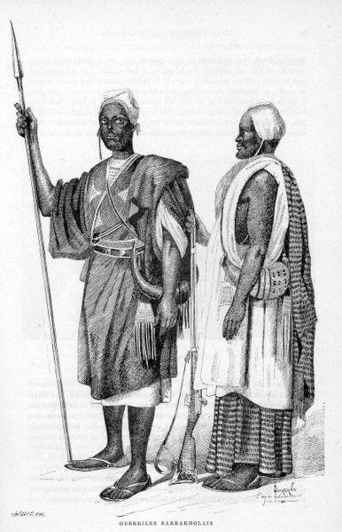 Guerriers sarrakholais (illustration de Côte occidentale d'Afrique, 1890 du Colonel Frey) [Pl. en reg. p.88 :] [Cote : Réserve A 200 386]