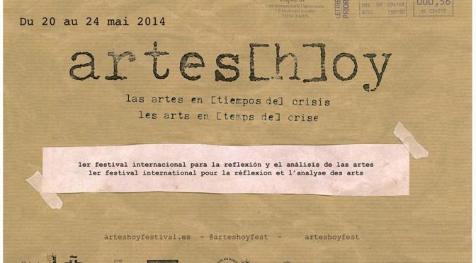 Jeudi 22 mai – Table ronde festival Artes[H]oy