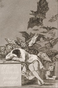 396px-Francisco_José_de_Goya_y_Lucientes_-_The_sleep_of_reason_produces_monsters_(No._43),_from_Los_Caprichos_-_Google_Art_Project