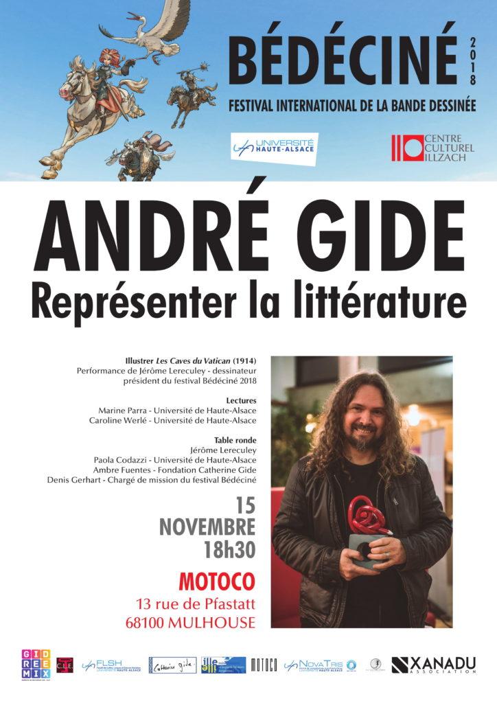 affiche gide-representer la litterature