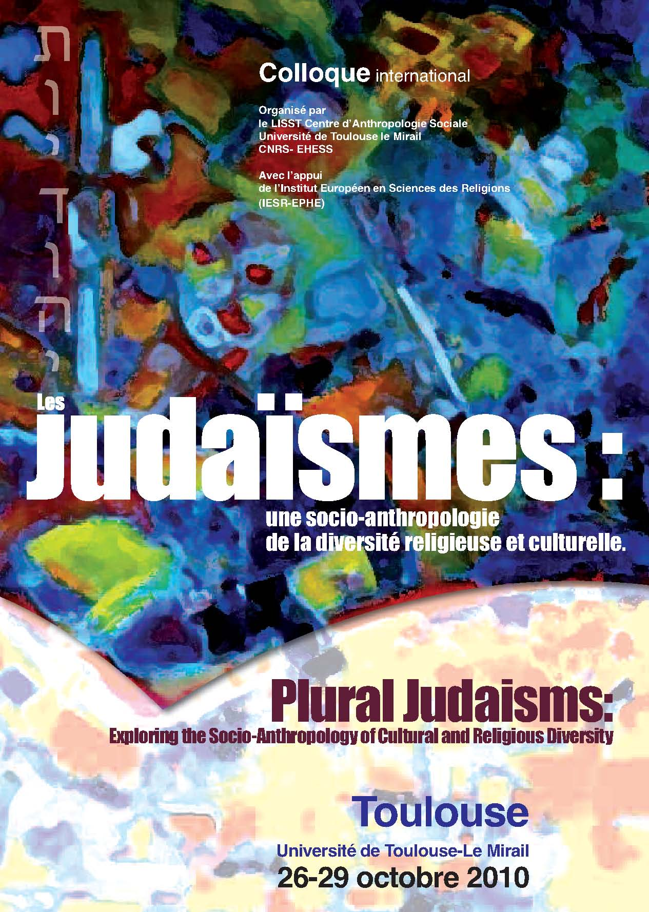 Affiche colloque judaïsmes