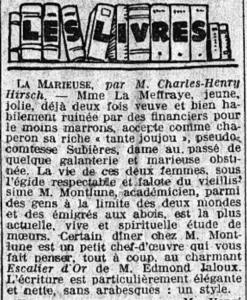 Le Matin, 1er février 1926
