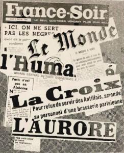 Photo montage publié dans Droit et Liberté, 15 février-15 mars 1966, archives MRAP
