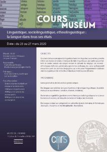 Maquette de présent du cours du museum