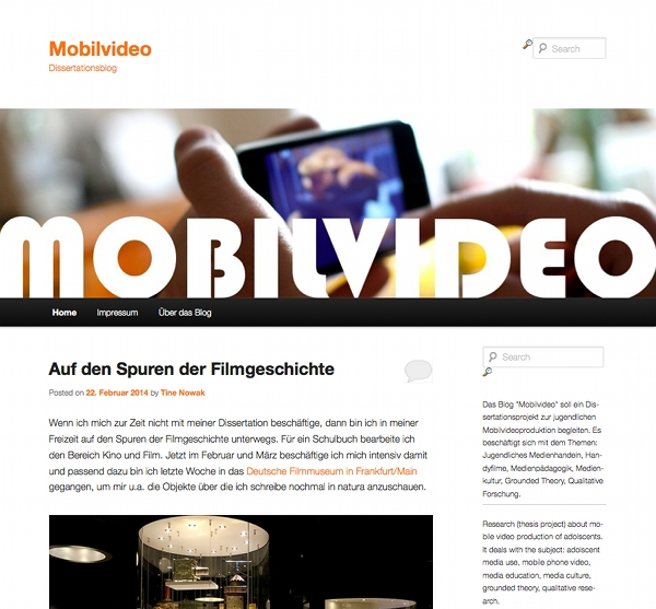 Screenshot vom Mobilvideo-Blog (Foto: Nowak)