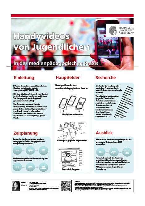 Poster Herbsttagung, Tine Nowak: Handyvideos in der medienpädagogischen Praxis