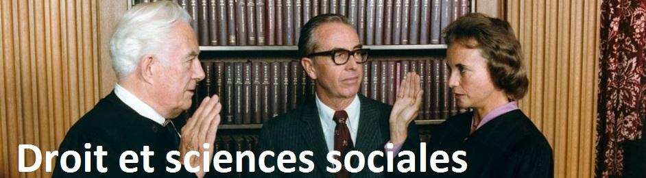 Droit et sciences sociales