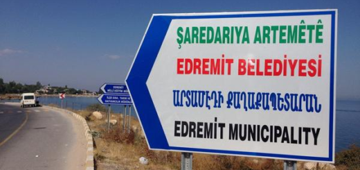 Sign in Armenian in the town of Edremit in Van (Photo by Khatchig Mouradian)
