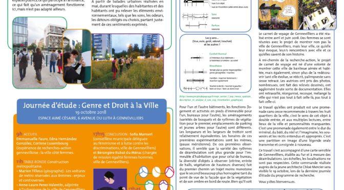 Le n°6 du journal de recherche est paru : ressentir la ville…