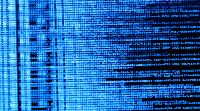 Lignes de code informatique
