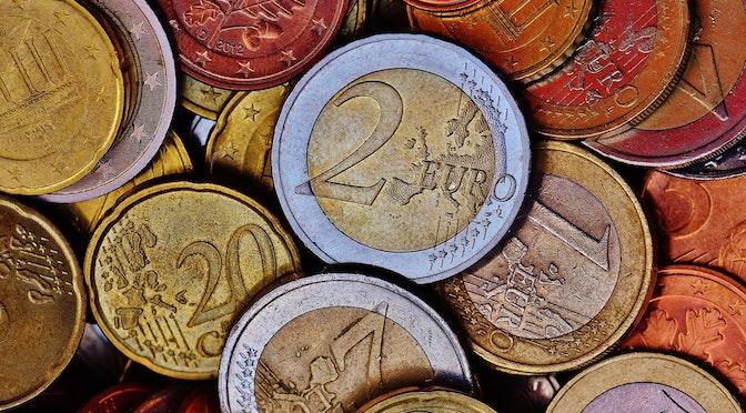 Pièces de monnaie en gros plan