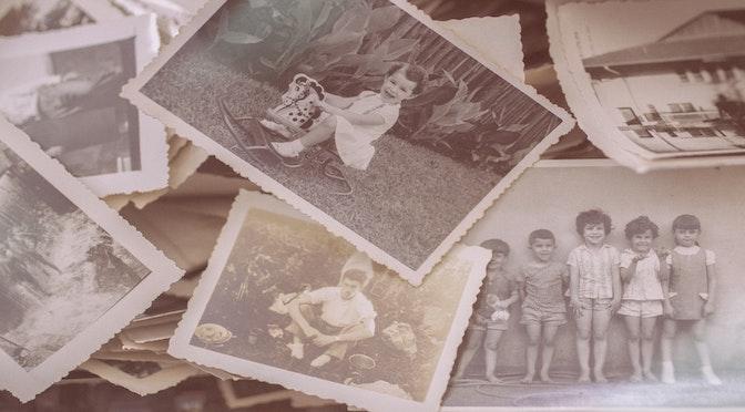 Vieilles photographies de vie