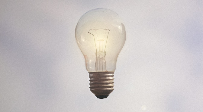 Ampoule éclairée en vol