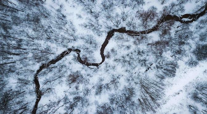 Paysage de nature dans le froid et la neige