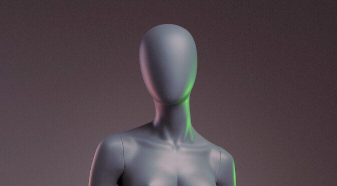 Mannequin de femme en plastique