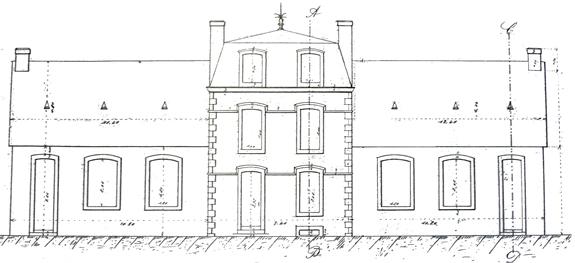 Plan de l'école de Lesneut conservé aux Archives municipales de Plozévet