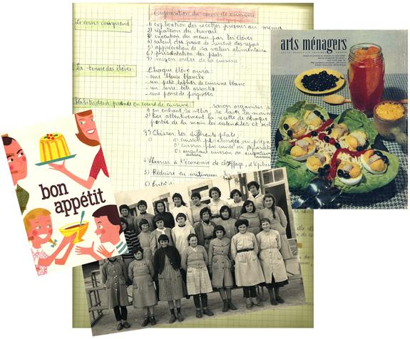 Images extraites d'un cahier d'écolière