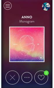 Capture d'écran de l'application The Best Song