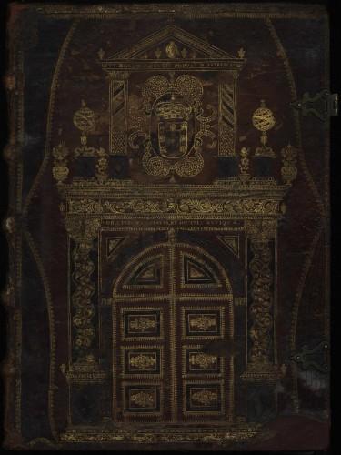 La magnífica portada repujada del Tesouro de Nobreza