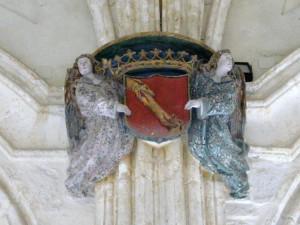 Insignia de la Banda de Castilla en el monasterio del Paular