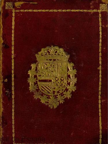 """Encuadernación de la obra """"Manejo real"""" (1733). Fotografía: BNE"""