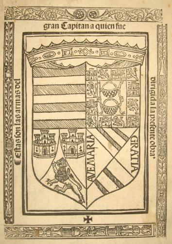 Armas del Gran Capitán Gonzalo Fernández de Córdoba (s. XV)