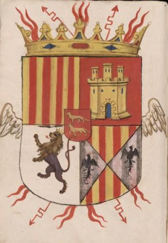 Armas de don Martín de Gurrea y Aragon (BNE, Libro de Antigüedades, Estatuas...)