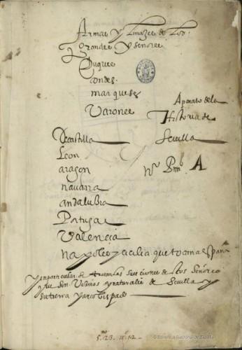 Primera página y título del manuscrito