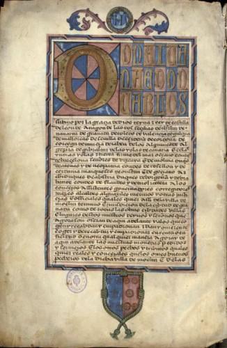 Ejecutoria de Diego Colmenares, vecino de Moclín (1519)