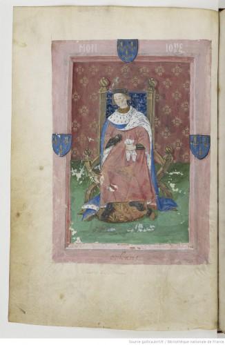 El heraldo Montjoie, en el armorial de Berry