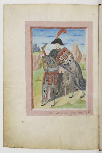 El condestable Artús de Bretaña, en el armorial de Berry