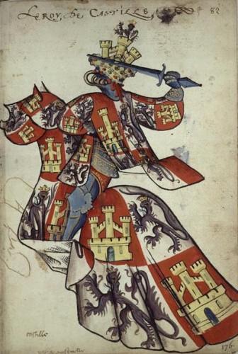 Don Juan II de Castilla, según el Armorial del Toisón de Oro