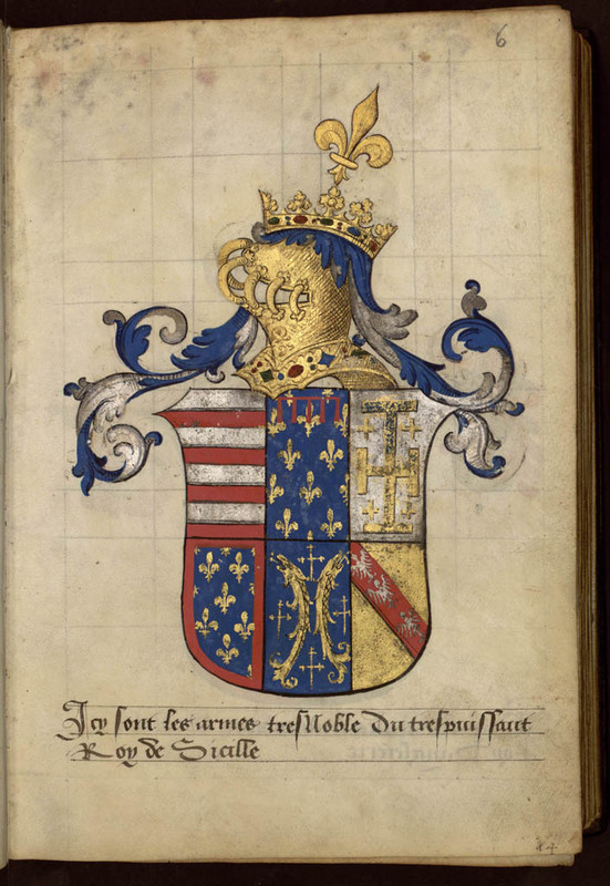 Armorial composé pour Nicolas de Lutzelbourg, seigneur de Fléville, capitaine de Nancy