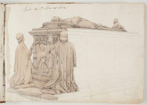 Cecilio Pizarro (1840-1847): Sepulcro de don Álvaro de Luna en la catedral de Toledo. Museo del Prado