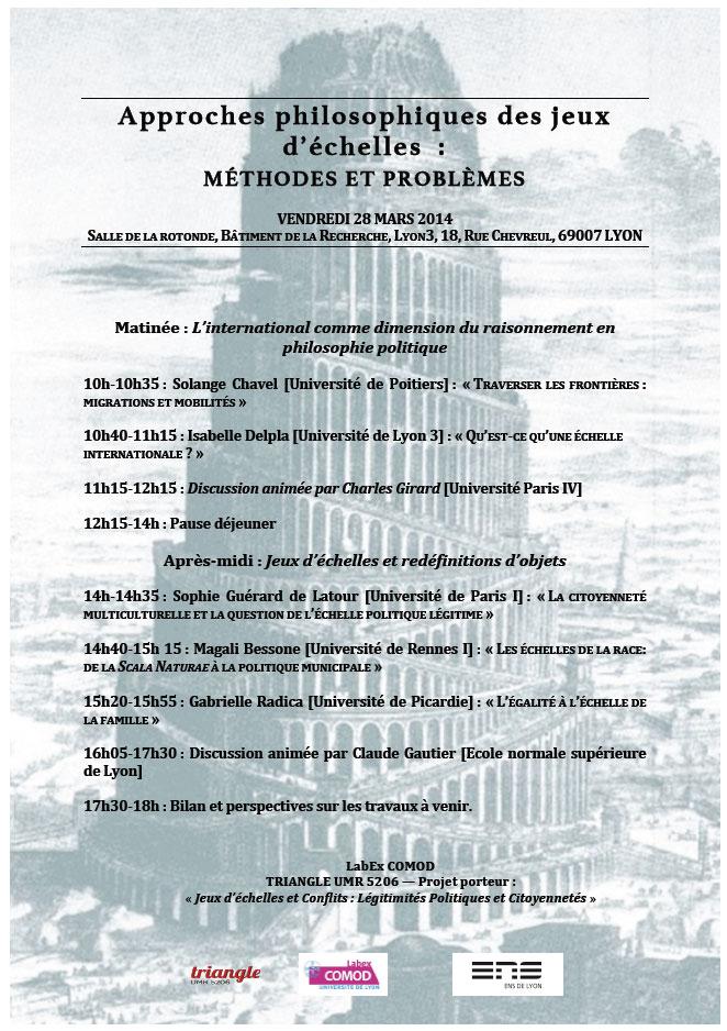 « Approches philosophiques des jeux d'échelles : méthodes et problèmes » 2 / 2
