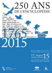 Journée d'étude «250 ans de l'Encyclopédie – 1765-2015»
