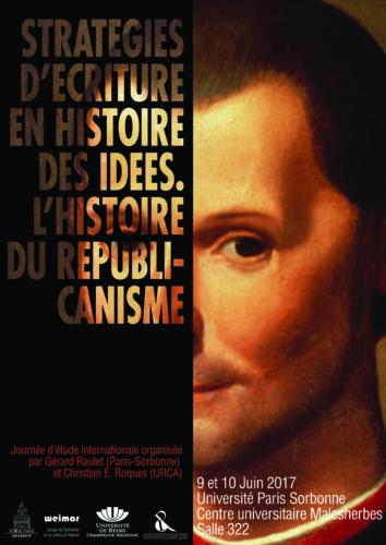 Affiche Stratégies d'écriture en Histoire des idées