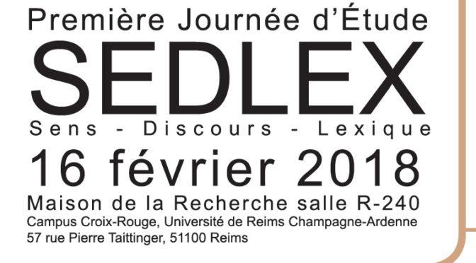 JE SEDLEX : Sens – Discours – Lexique