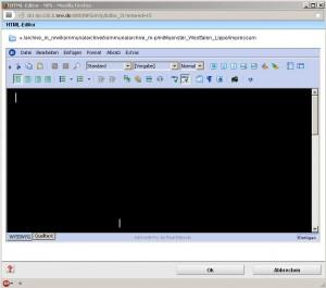Das Problem des schwarzen Eingabefensters im HTML-Editor.