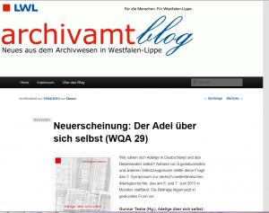 Seit 2014 im Netz: der archivamtblog.