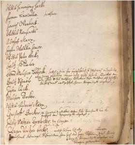 Seite aus dem Iserlohner Bürgerbuch(StdA Iserlohn, Am 3)