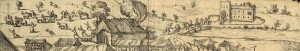 Überfall auf den Grevener Markt 1589, Ausschnitt (Stadtarchiv Greven, Dep. 89 Nr. 1)